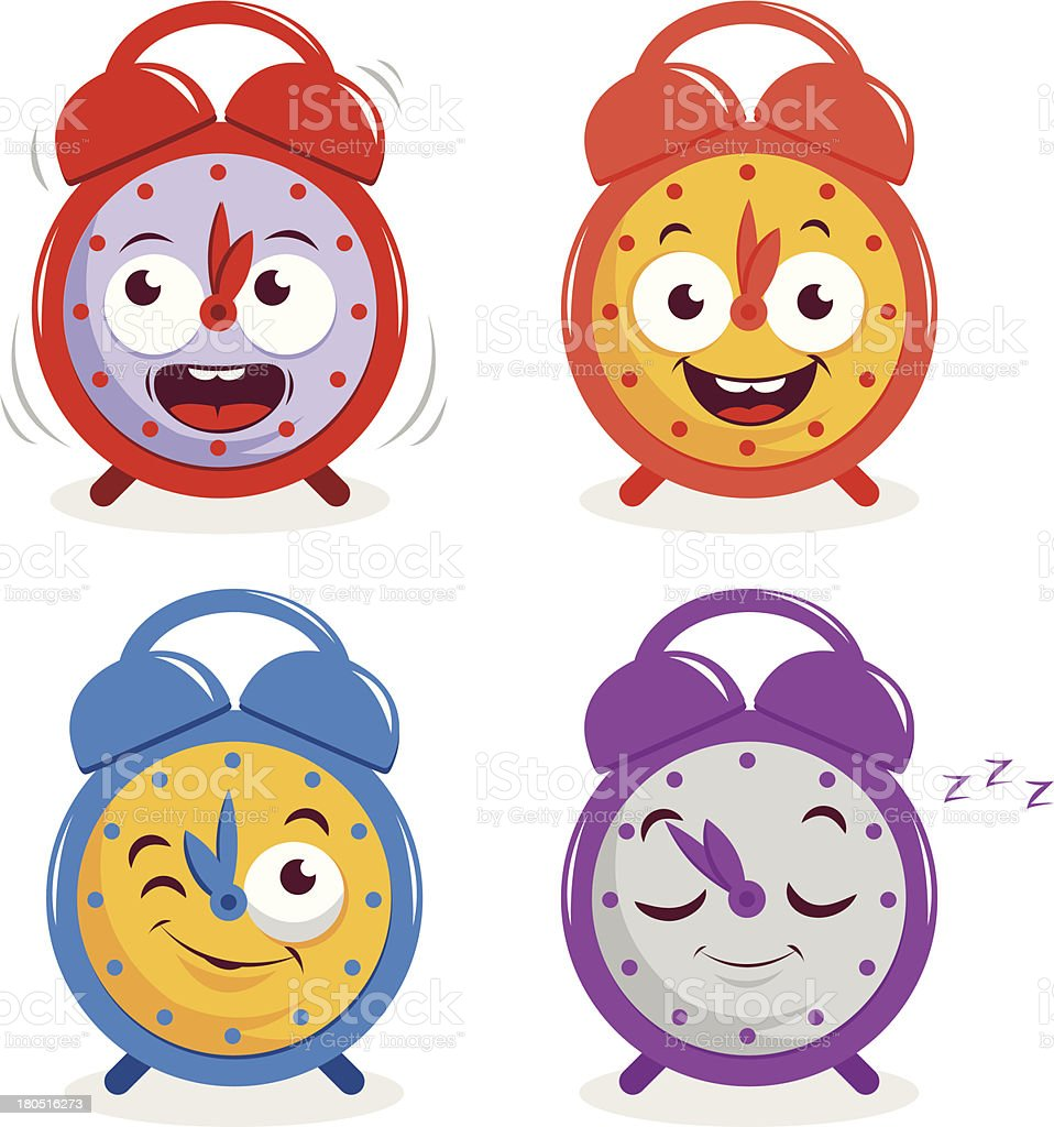 royalty free cute alarm clock clip art vector images rh istockphoto com
