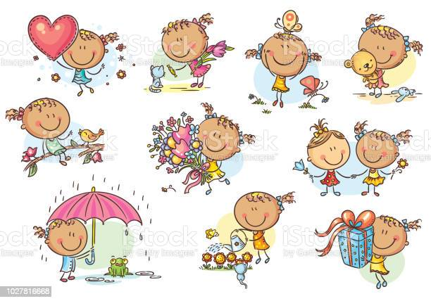 Happy and cute little girl set vector vector id1027816668?b=1&k=6&m=1027816668&s=612x612&h=mrlza0zdy6ogc8z25cv5nbu2ogqqvx5 t3gsthc25be=