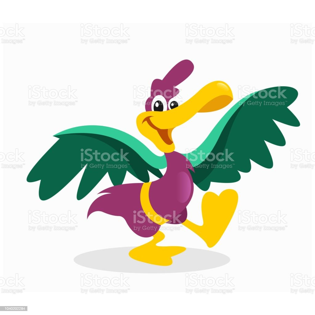 陽気にペアを組んで幸せとかわいいの小さな紫鶴マンガ キャラクター