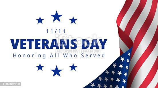istock Happy and Free Veterans Day November 11th 1182482293