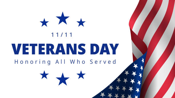 happy and free veterans day november 11th - veterans day stock illustrations