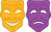Happy and Sad Theater Masks