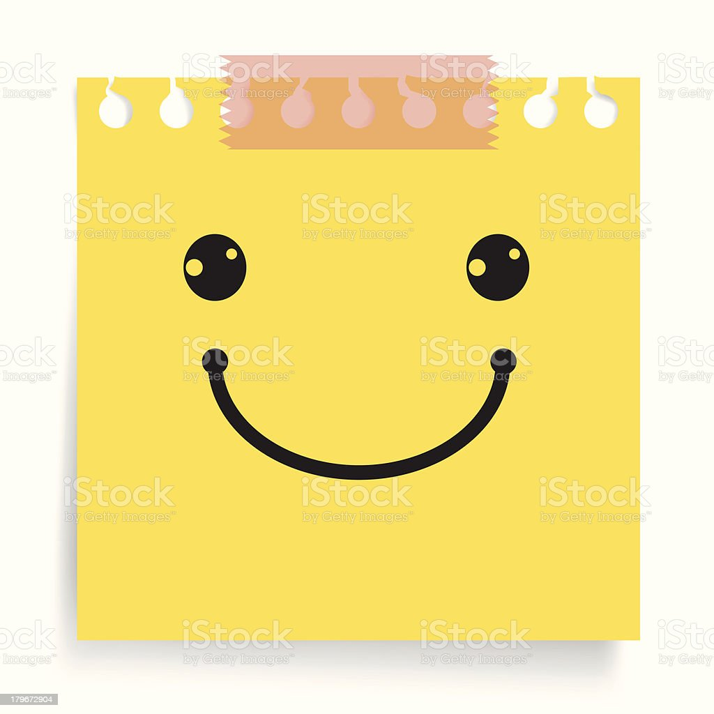 Happy and smiley note royalty-free happy and smiley note stock vector art & more images of adhesive tape