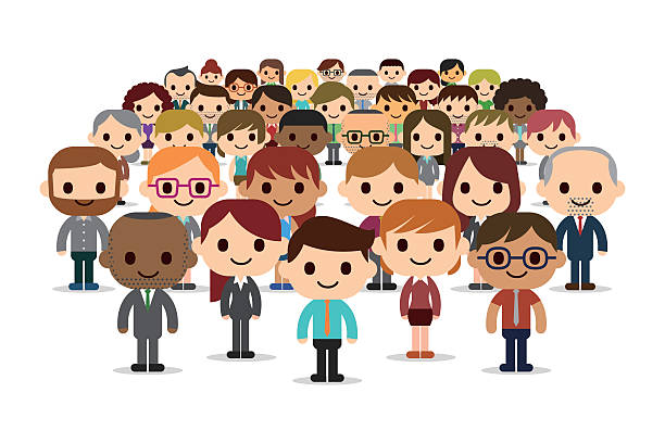 happy and success business people - cartoon people stock illustrations, clip art, cartoons, & icons