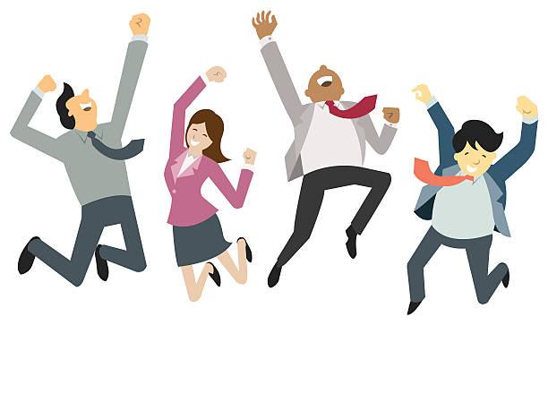 bildbanksillustrationer, clip art samt tecknat material och ikoner med happy and success businesspeople - happy driver
