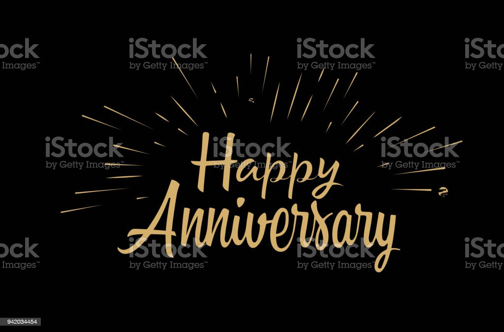 Anniversary wall hanging or card artistic letters established