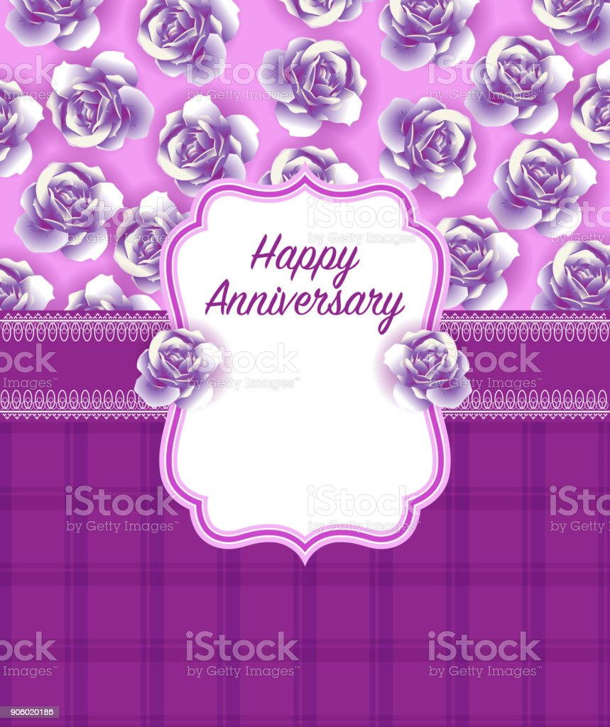 Happy Anniversary Greeting Card Design Stock Vector Art More