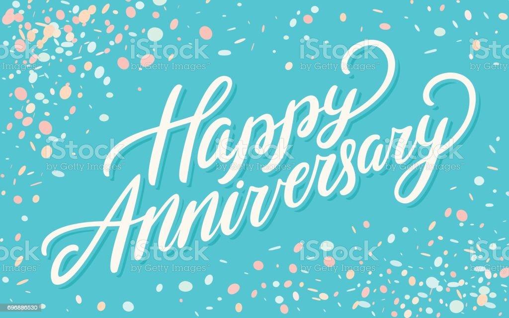 Happy Anniversary. Greeting card. - illustrazione arte vettoriale