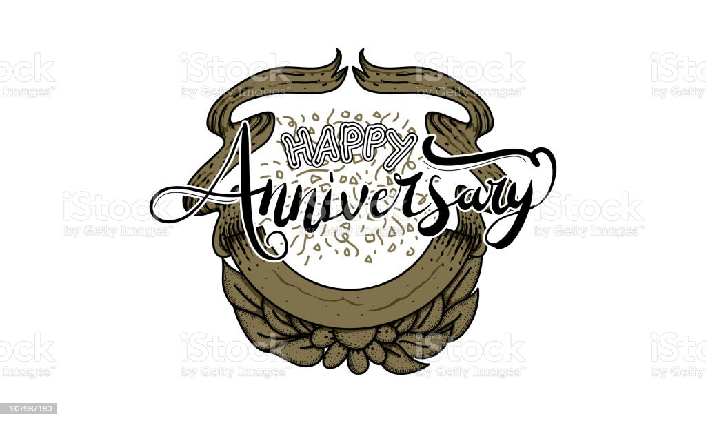 happy anniversary template vector stock vector art more images of