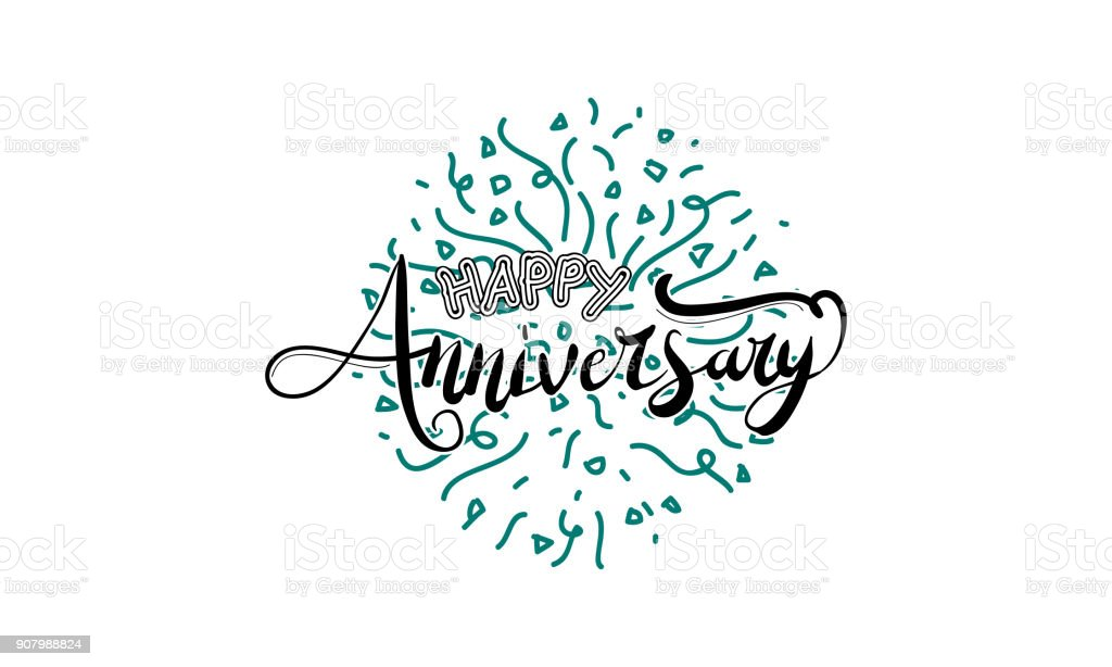 happy anniversary template vector stock vector art 907988824 istock
