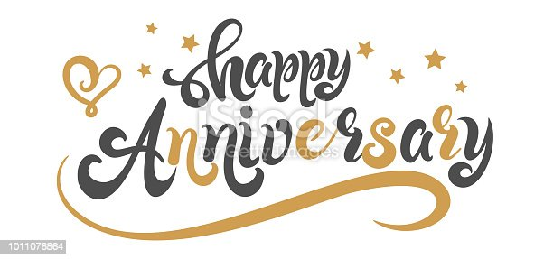 happy Anniversary, happy Anniversary text, happy anniversary calligraphy, vector image