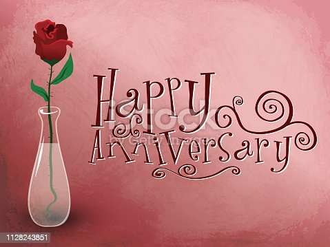 Happy anniversary card with flower for all your Happy anniversary card with flower needs!