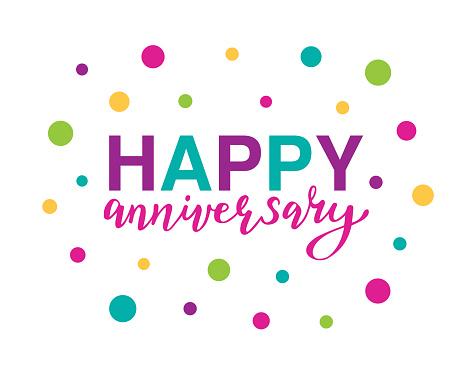 Happy Anniversary vector illustration