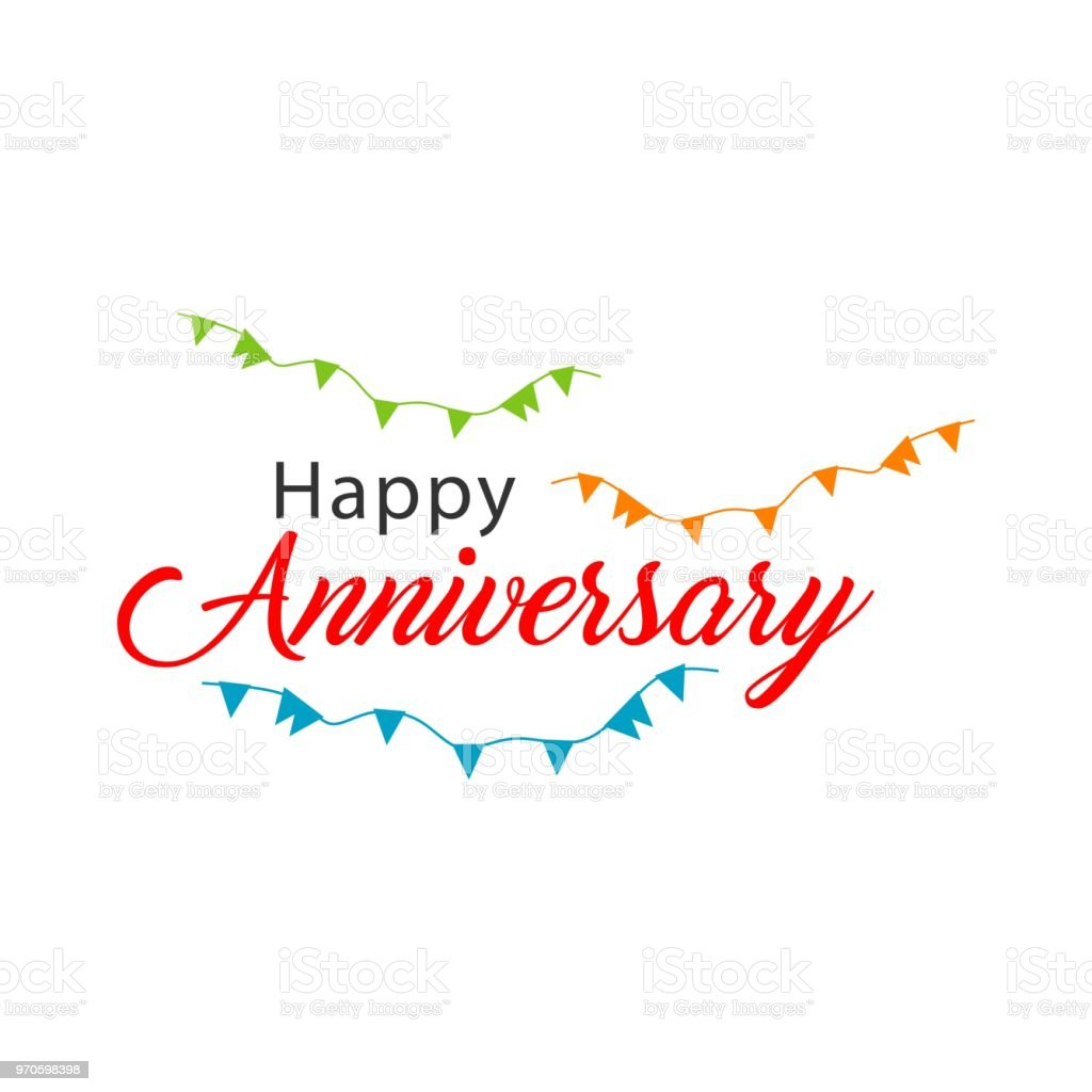 happy anniversary vector template design stock vector art more