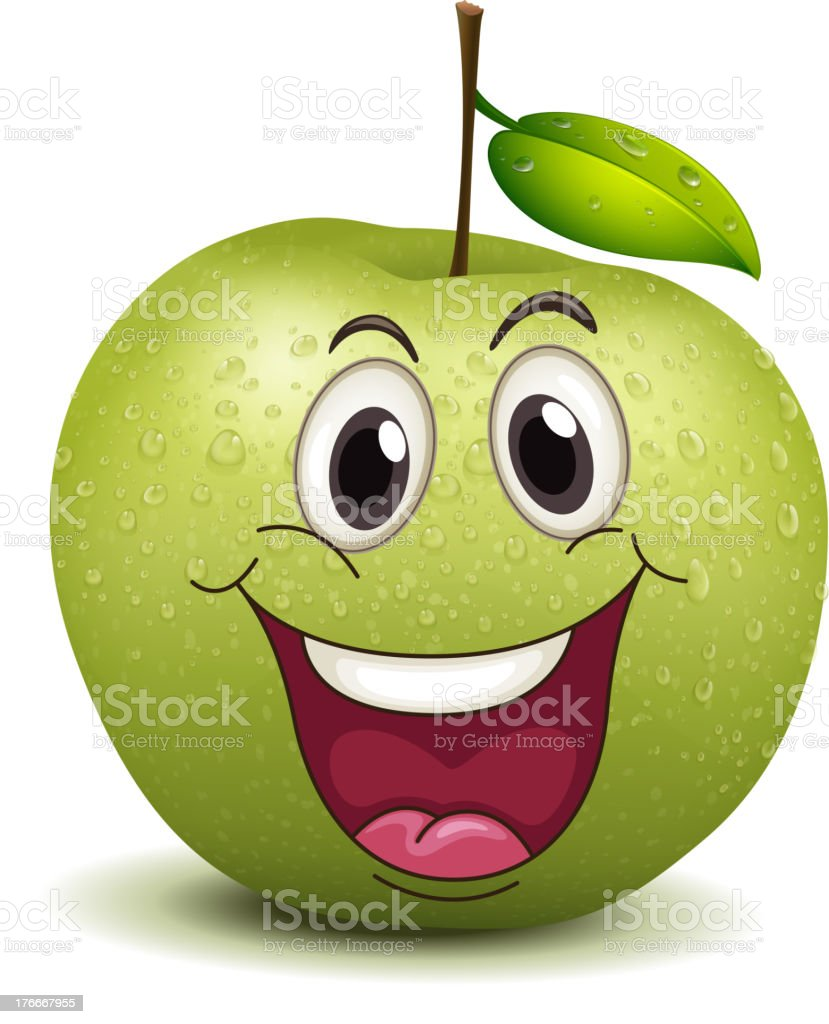 happy apple smiley royalty-free happy apple smiley stock vector art & more images of illustration