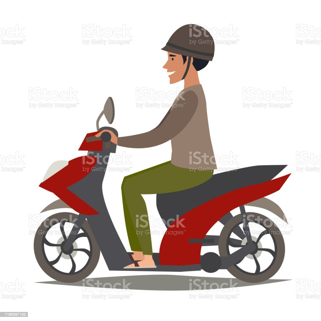 happy asian man on scooter vector illustration stock illustration download image now istock happy asian man on scooter vector illustration stock illustration download image now istock