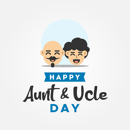 Happy Aunt and Uncle Day Vector Design Illustration For Celebrate Moment