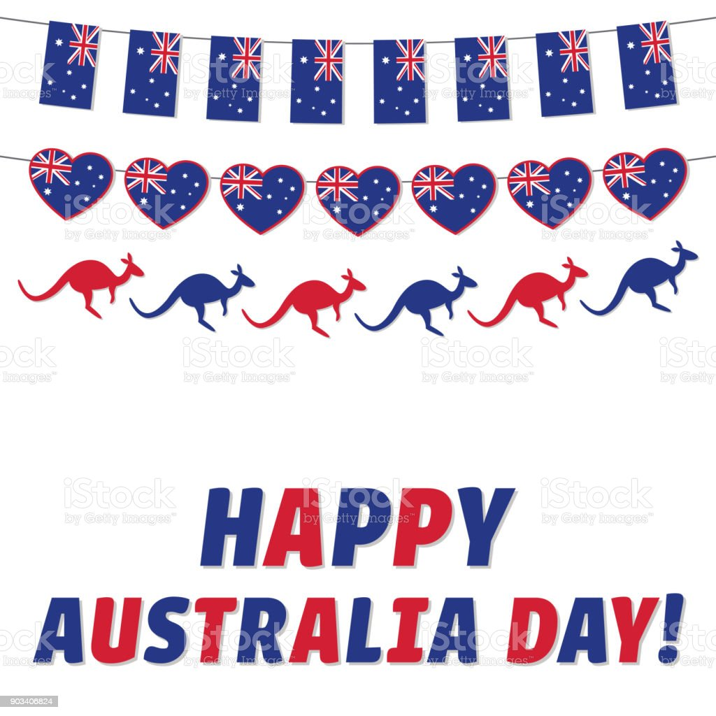 Happy Australia Day Greeting Card Stock Vector Art More Images Of
