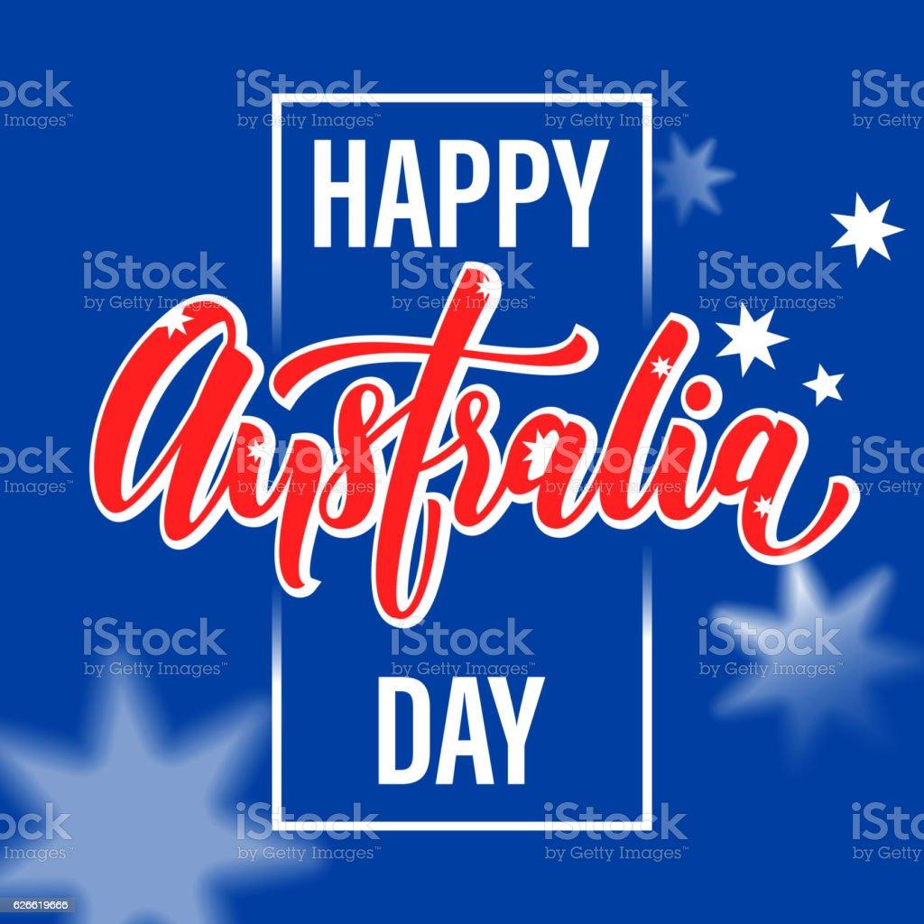 Happy australia day poster australian flag vector greeting stock happy australia day poster australian flag vector greeting royalty free stock vector art m4hsunfo