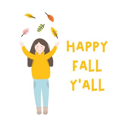 Happy autumn card.