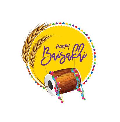 Happy Baisakhi Festival Wish Background