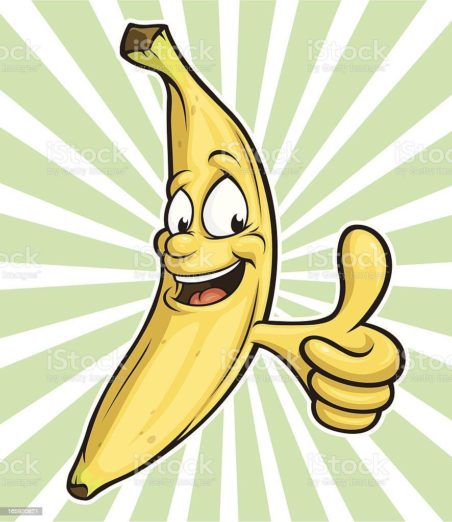Feliz tipo Banana - ilustración de arte vectorial