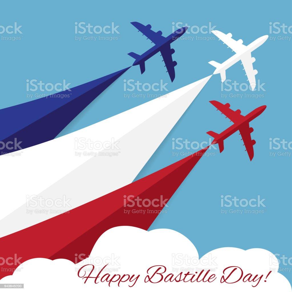 Joyeux jour de Bastille. Fête de l'indépendance de la France - Illustration vectorielle
