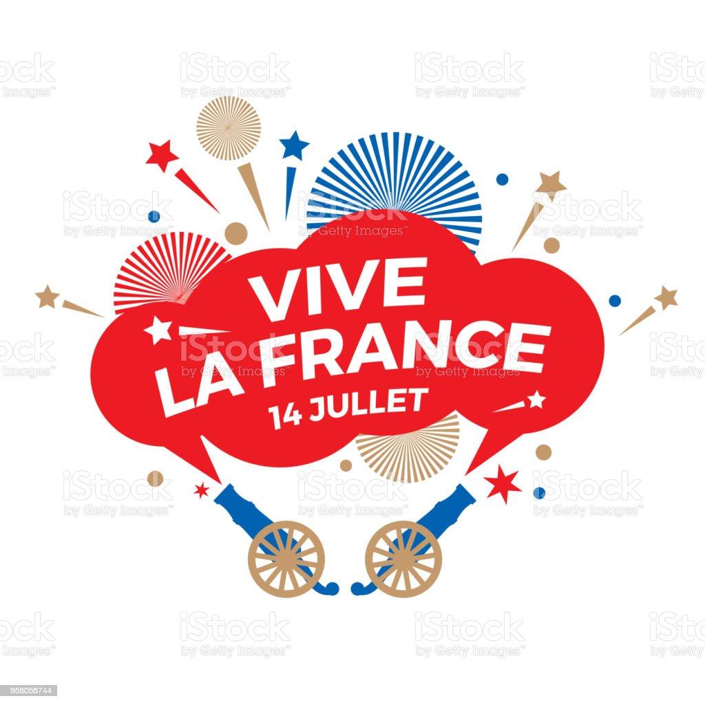 Joyeux jour de Bastille. Fête nationale. - Illustration vectorielle