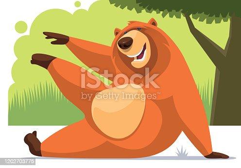 istock happy bear stretching 1202703775