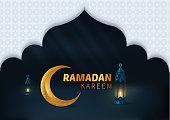 Happy Beautiful Ramadan Kareem Vector Background Illustration