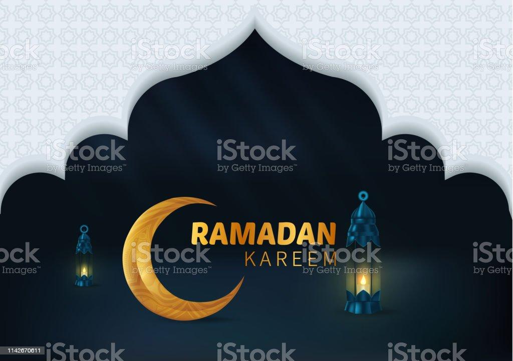Happy Beautiful Ramadan Kareem Vector Background Illustration vector art illustration