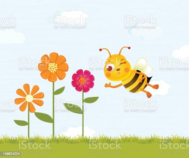 Happy bee and flowers vector id149824224?b=1&k=6&m=149824224&s=612x612&h=s9 krxc2fsx wi actg0ykl49ctblzmpgagygodsjhu=