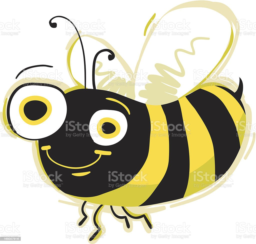Happy Bee! royalty-free stock vector art