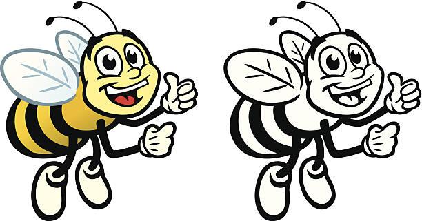 Happy Bee vector art illustration