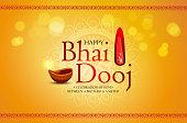 istock Happy Bhai Dooj, Bhai Tika, Bhau-Beej, Greeting Card Design. 1284956840