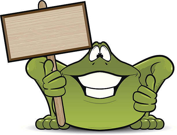 Royalty Free Happy Frog With Thumbs Up Clip Art, Vector ...