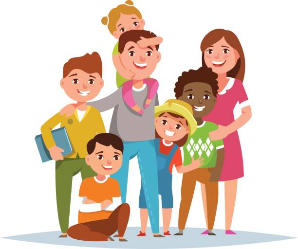 Image result for family clipart multiethnic