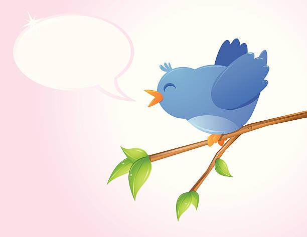 Happy Bird vector art illustration