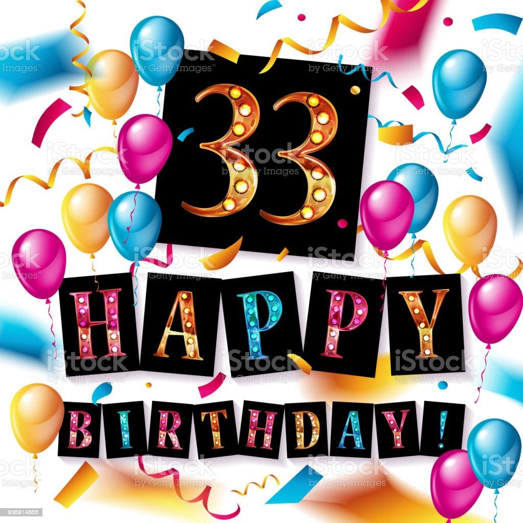 Geburtstag 33 jahre 33 Glückwünsche
