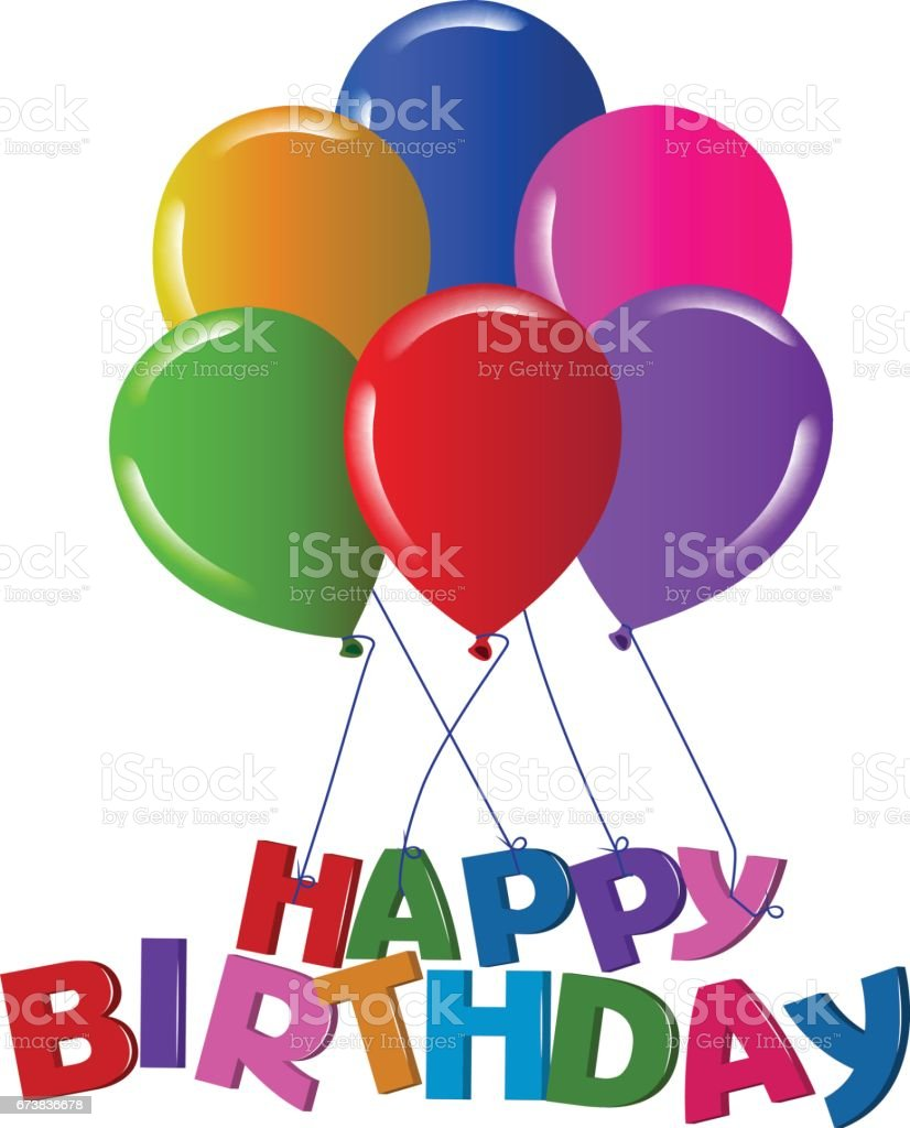 İyi ki doğdun 3D balon sembolü vektör royalty-free İyi ki doğdun 3d balon sembolü vektör stok vektör sanatı & abd'nin daha fazla görseli