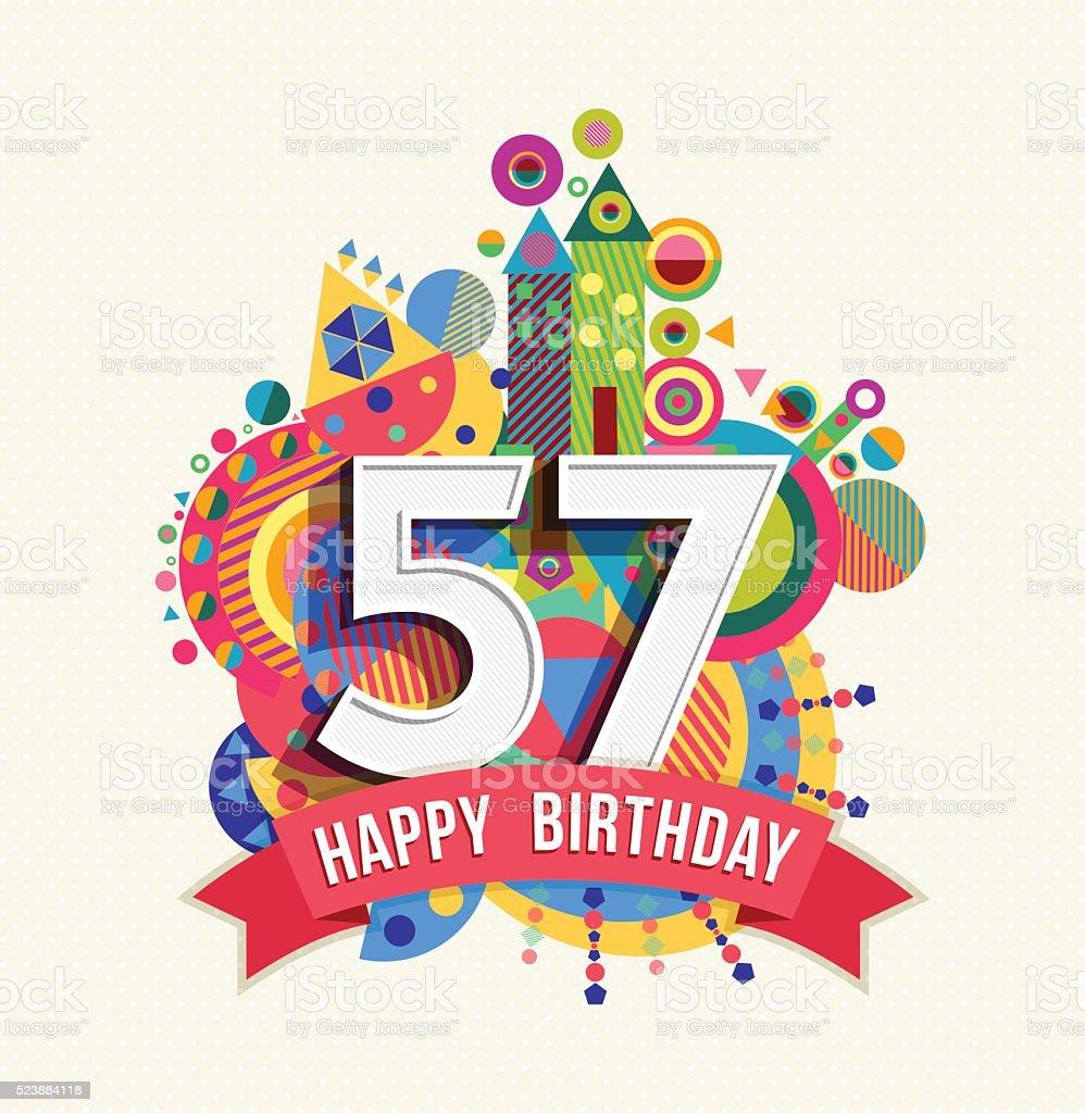 Feliz cumpleanos de 57 anos