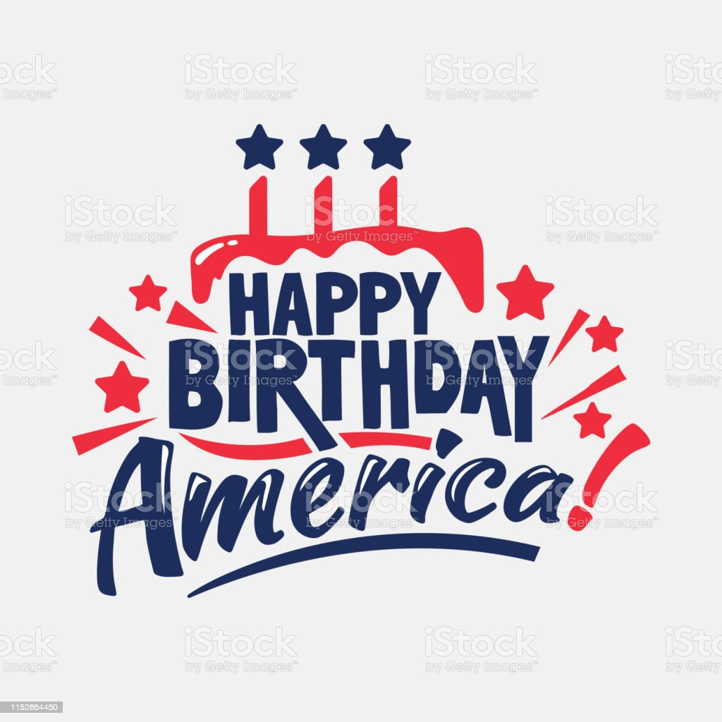 happy birthday america phrase independence day labels and quotes