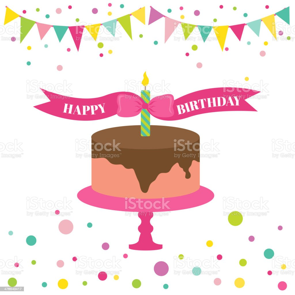 Happy Birthday and Party Card - with place for your text - in vector