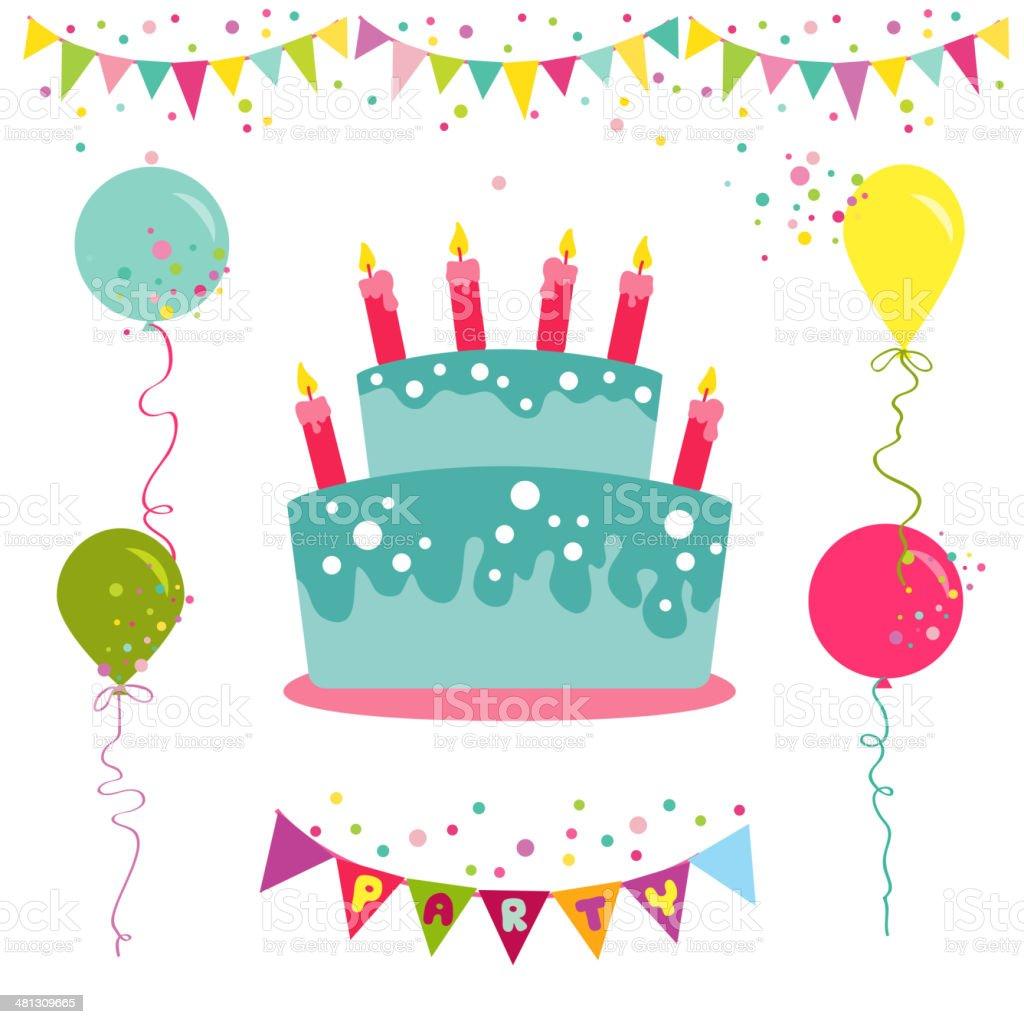생일 축하 파티 초대장을 카드 일러스트 481309665