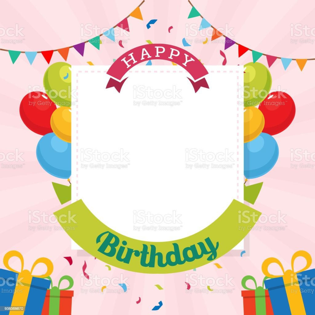 happy birthday background template stock vector art more images of