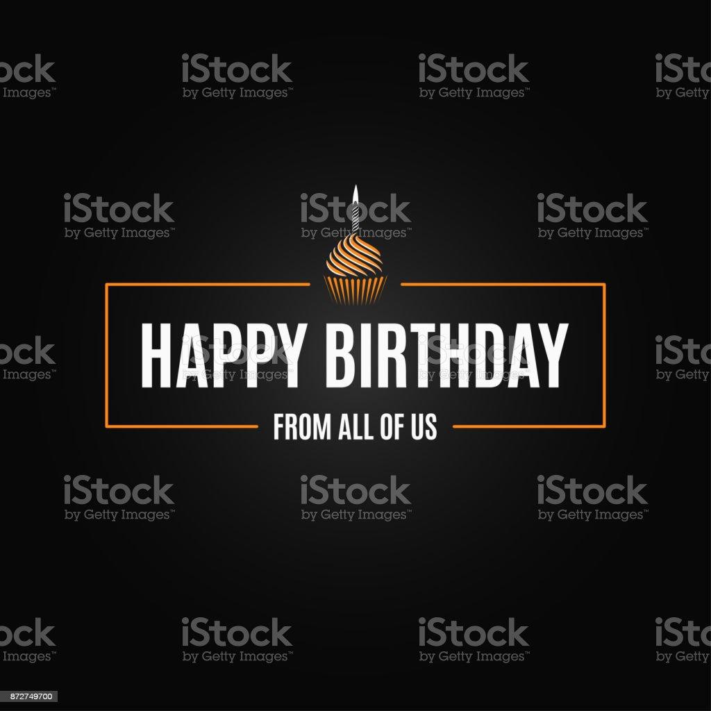 happy birthday Hintergrund – Vektorgrafik
