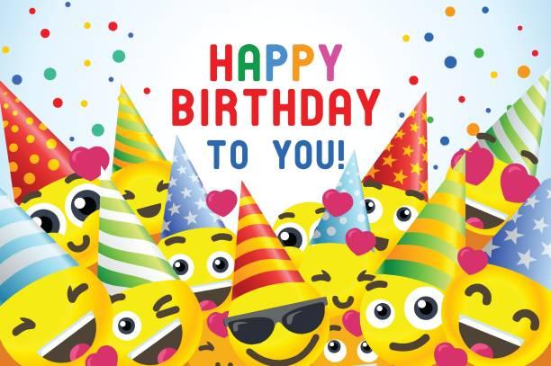 Best Happy Birthday Smiley Emoticon Background ...