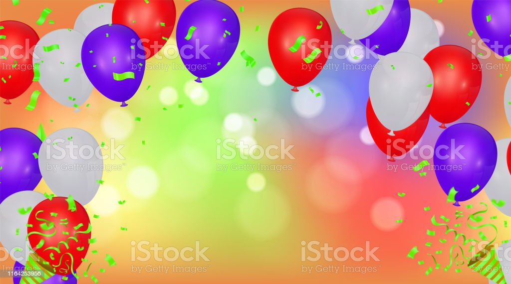 Happy Birthday Backgrounds Grand opening ceremony vector banner....
