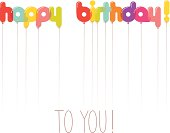 Happy birthday balloon letters