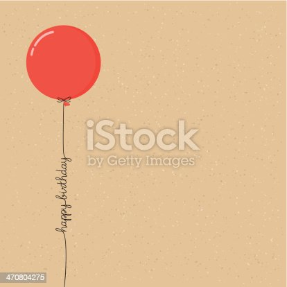 istock Happy birthday balloon with script 470804275